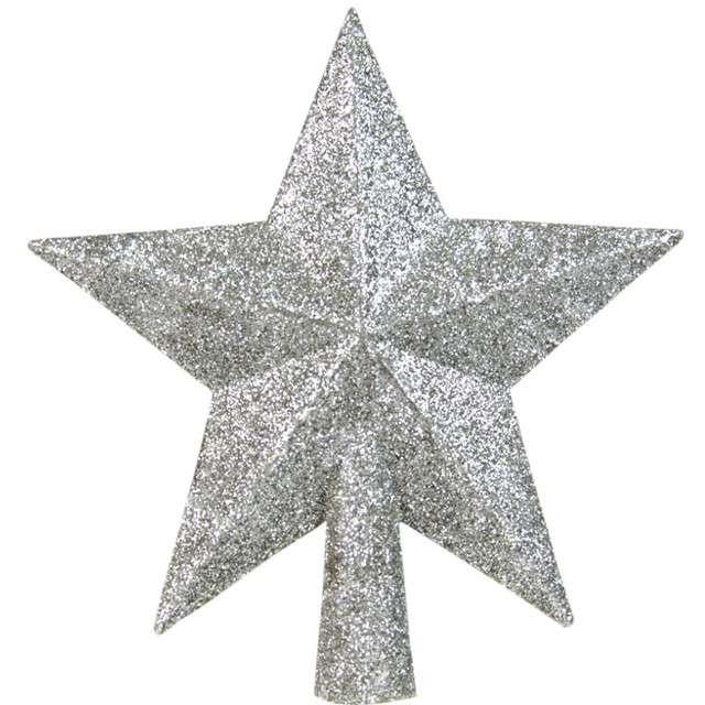 """Czubek choinkowy """"Srebrna gwiazda"""", Arpex, 14 cm"""