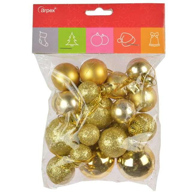 Bombki Mini Mix złote Arpex komplet 20
