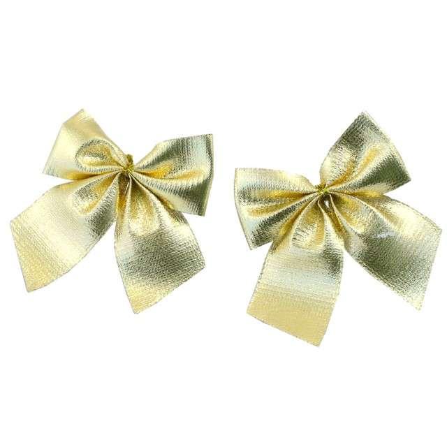 Dekoracja Kokardki prezentowe złote Arpex 14 szt