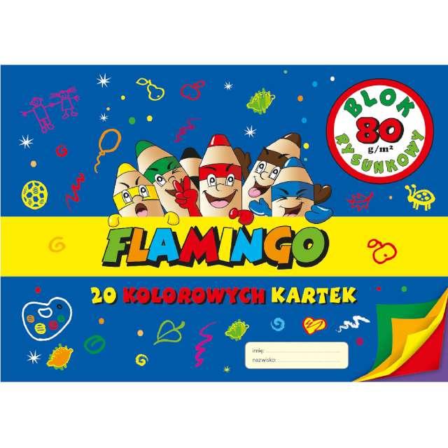 """Blok rysunkowy """"Classic A4"""", kolorowy, Flamingo, 20 kart."""