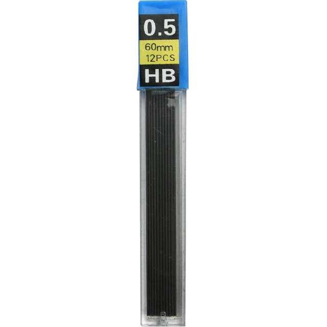 """Wkłady do ołówków """"Grafity"""", Titanum, HB, 0,5 x 60 mm, 12 szt"""