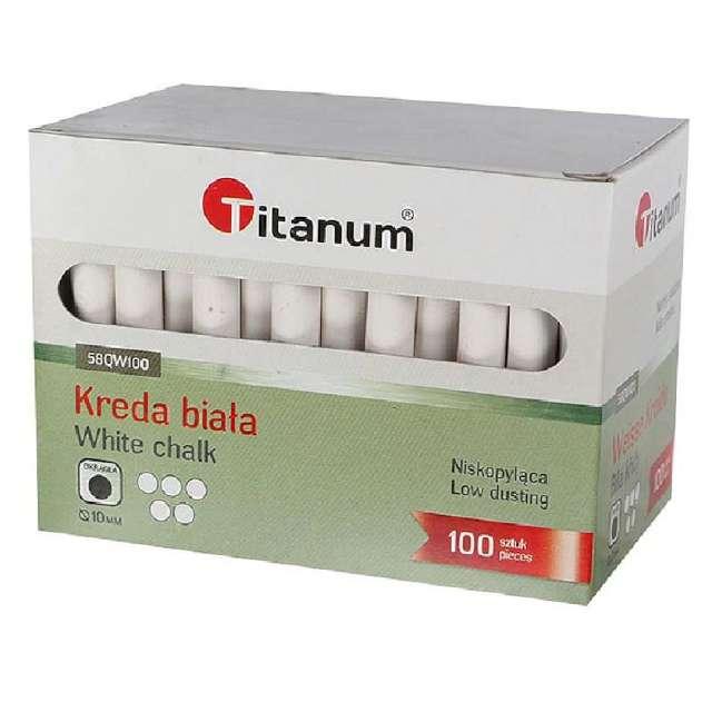 """Kreda """"Classic"""", biała, Titanum, 10 mm, 100 szt"""