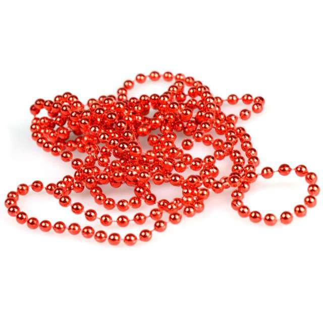 Łańcuch choinkowy Czerwone korale 4 mm Arpex 270 cm