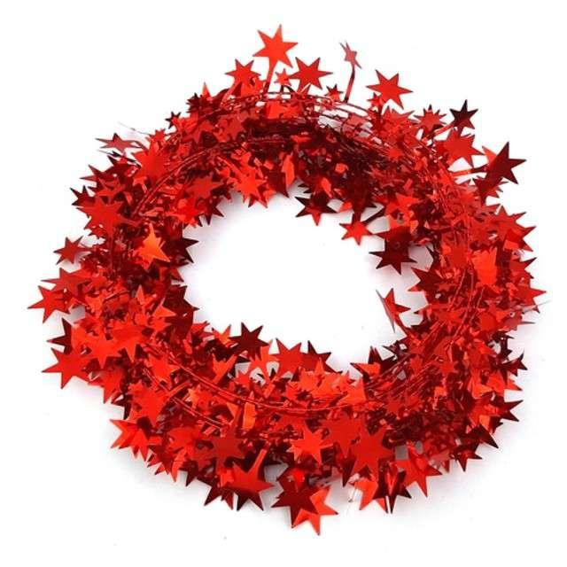 Łańcuch choinkowy Czerwone gwiazdki Arpex 270 cm