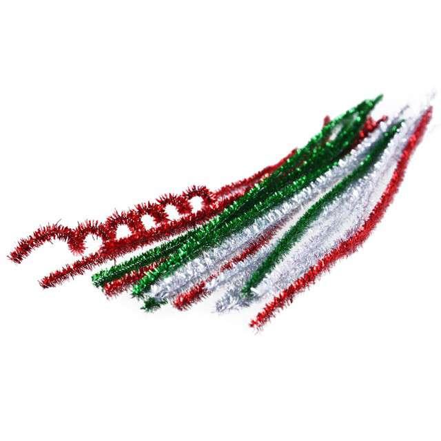 """Druciki kreatywne """"Wyciory"""", mix świąteczny, Arpex, 30 cm, 18 szt"""