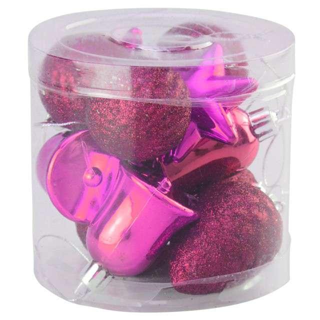 Zestaw bombek Świąteczny Mix 12 różowy Arpex