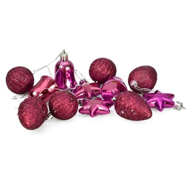 """Zestaw bombek """"Świąteczny Mix 12"""", różowy, Arpex"""