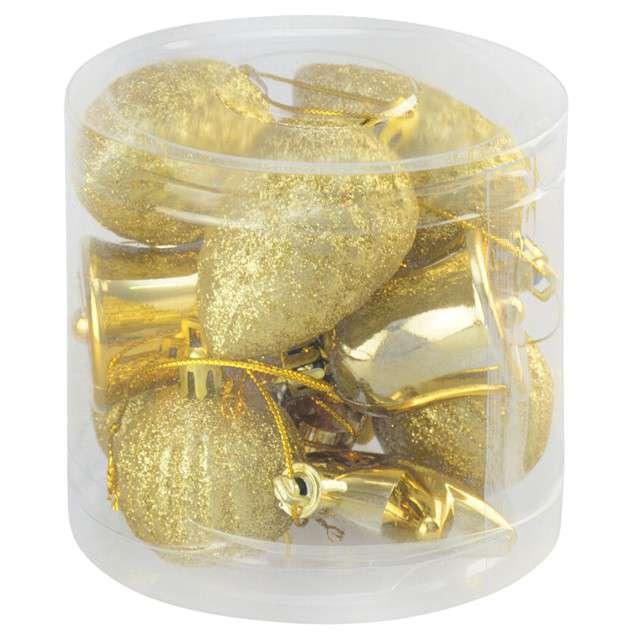 Zestaw bombek Świąteczny Mix 12 złoty Arpex