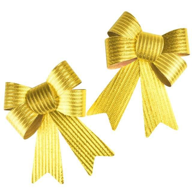 """Dekoracja """"Kokardy w prążki"""", złote, Arpex, 2 szt"""