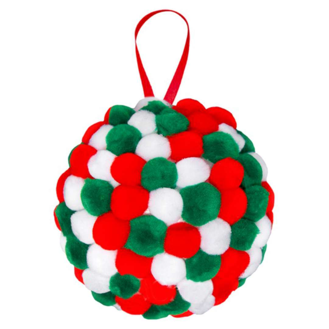 Dekoracja Świąteczne pomponiki mix Arpex 80 szt