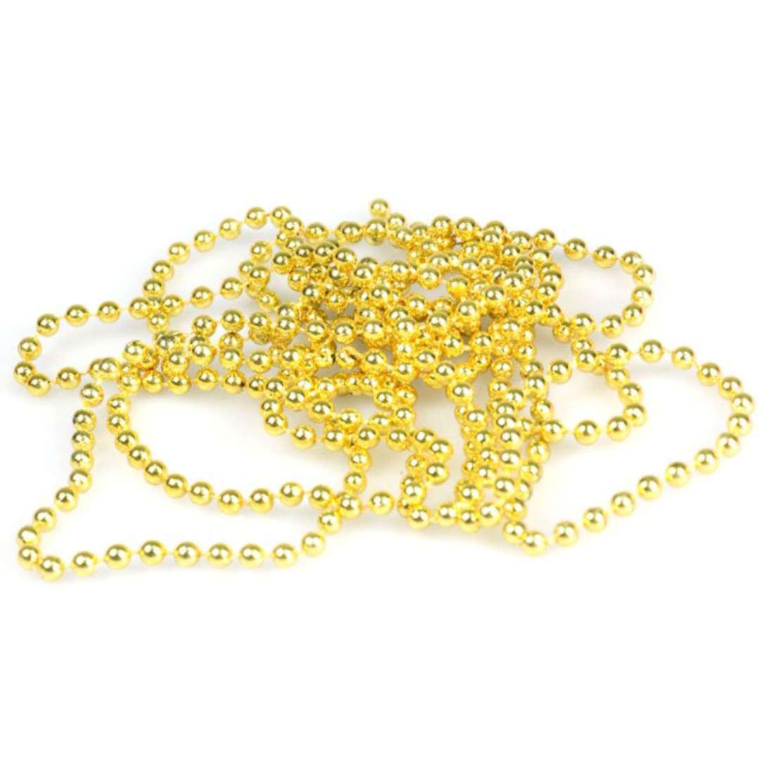 """Łańcuch choinkowy """"Złote korale"""", 4 mm, Arpex, 270 cm"""