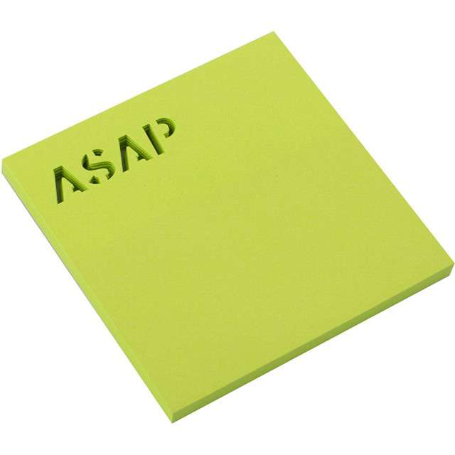 """Karteczki samoprzylepne """"Z wycięciem - ASAP"""", D.RECT, 75 x 75 mm, 50 kartek"""