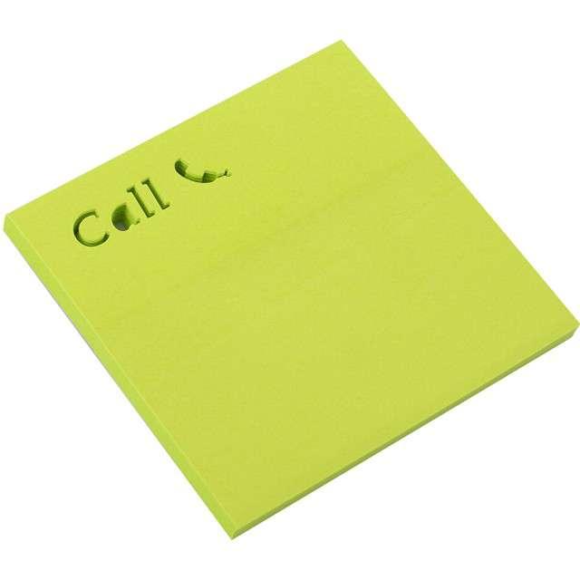 """Karteczki samoprzylepne """"Z wycięciem - Call"""", D.RECT, 75 x 75 mm, 50 kartek"""