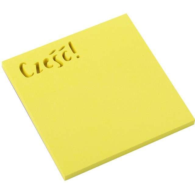 """Karteczki samoprzylepne """"Z wycięciem - Cześć"""", D.RECT, 75 x 75 mm, 50 kartek"""