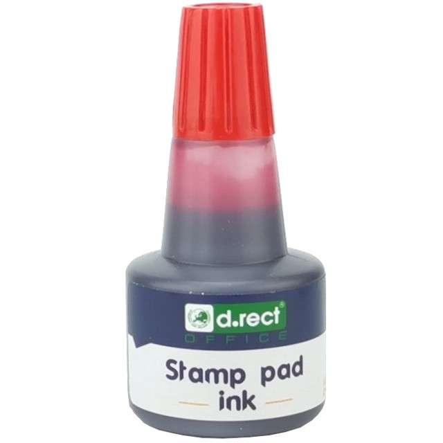 """Tusz do stempli """"D.RECT Pigment"""", 25 ml, czerwony"""