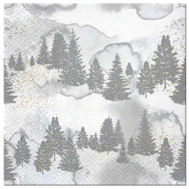 """Serwetki """"Zimowy las"""", PAW, 33 cm, 20 szt"""