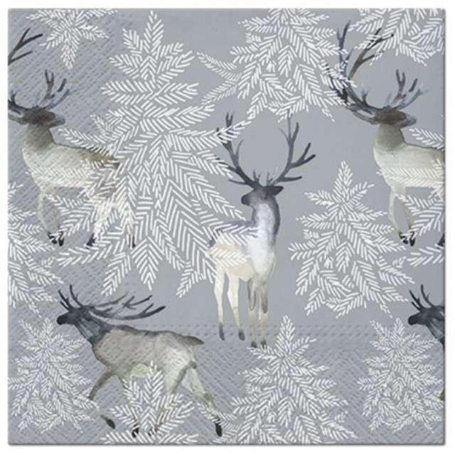 """Serwetki """"Renifery w lesie"""", PAW, 33 cm, 20 szt"""