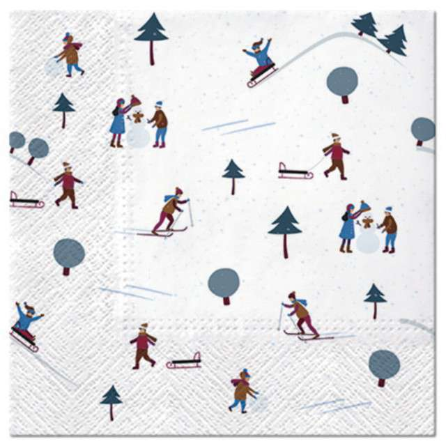 """Serwetki """"Zabawa w śniegu"""", 33 cm, 20 szt"""