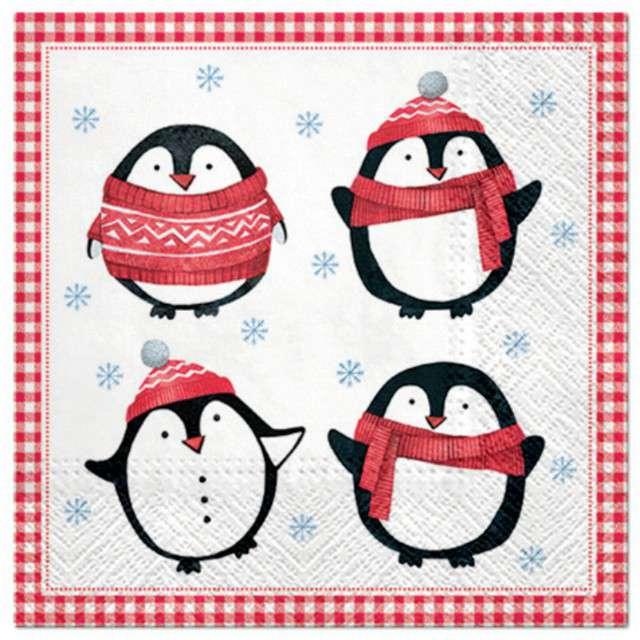 """Serwetki """"Małe pingwiny"""", PAW, 33 cm, 20 szt"""