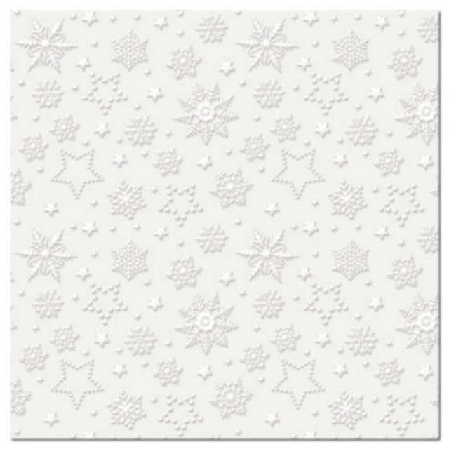 """Serwetki """"Płatki śniegu"""", ecru, PAW, 33 cm, 20 szt"""