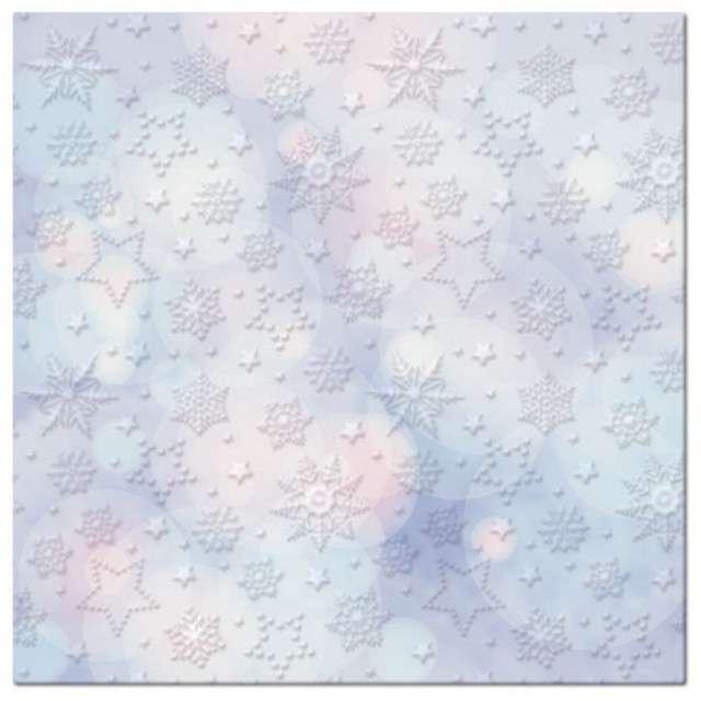 """Serwetki """"Płatki śniegu na tle bokeh"""", PAW, 33 cm, 20 szt"""
