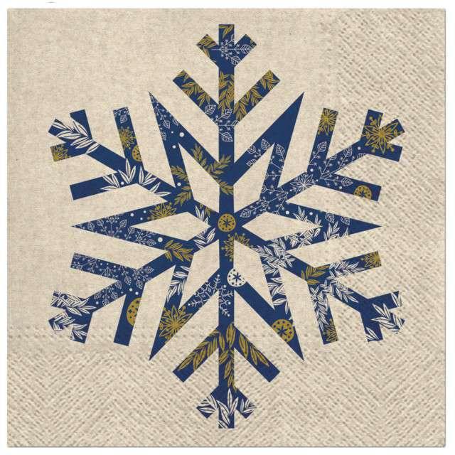 """Serwetki """"We Care - Płatek śniegu"""", PAW, 33 cm, 20 szt"""