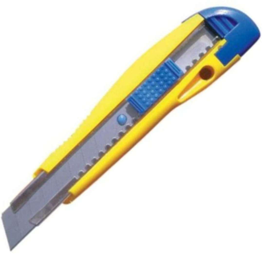"""Nóż """"Do tapet"""", plastikowy, żółto-niebieski, Titanum, 18mm"""
