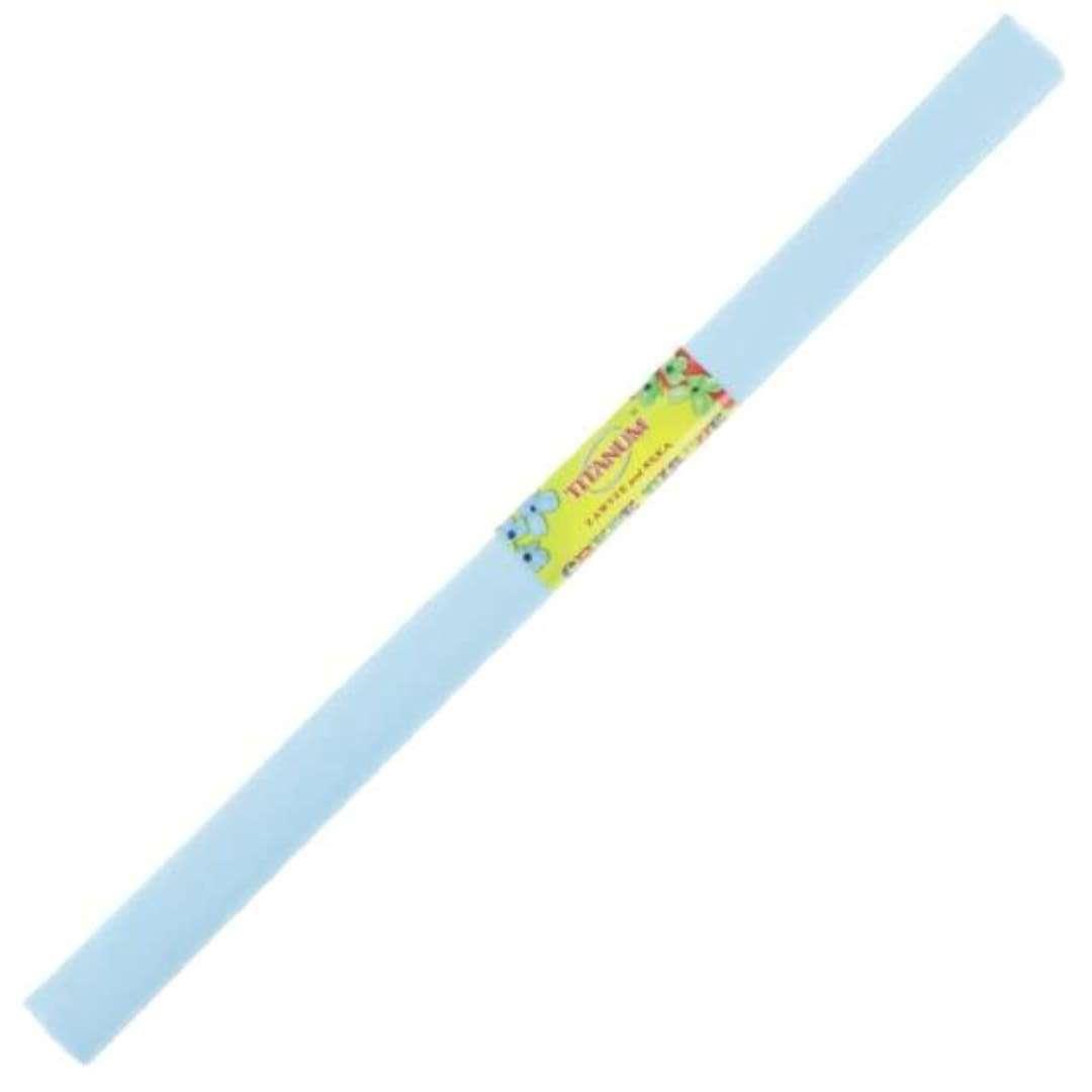 """Bibuła """"Marszczona"""", błękitna lazurowa, Titanum, 50 x 200 cm"""