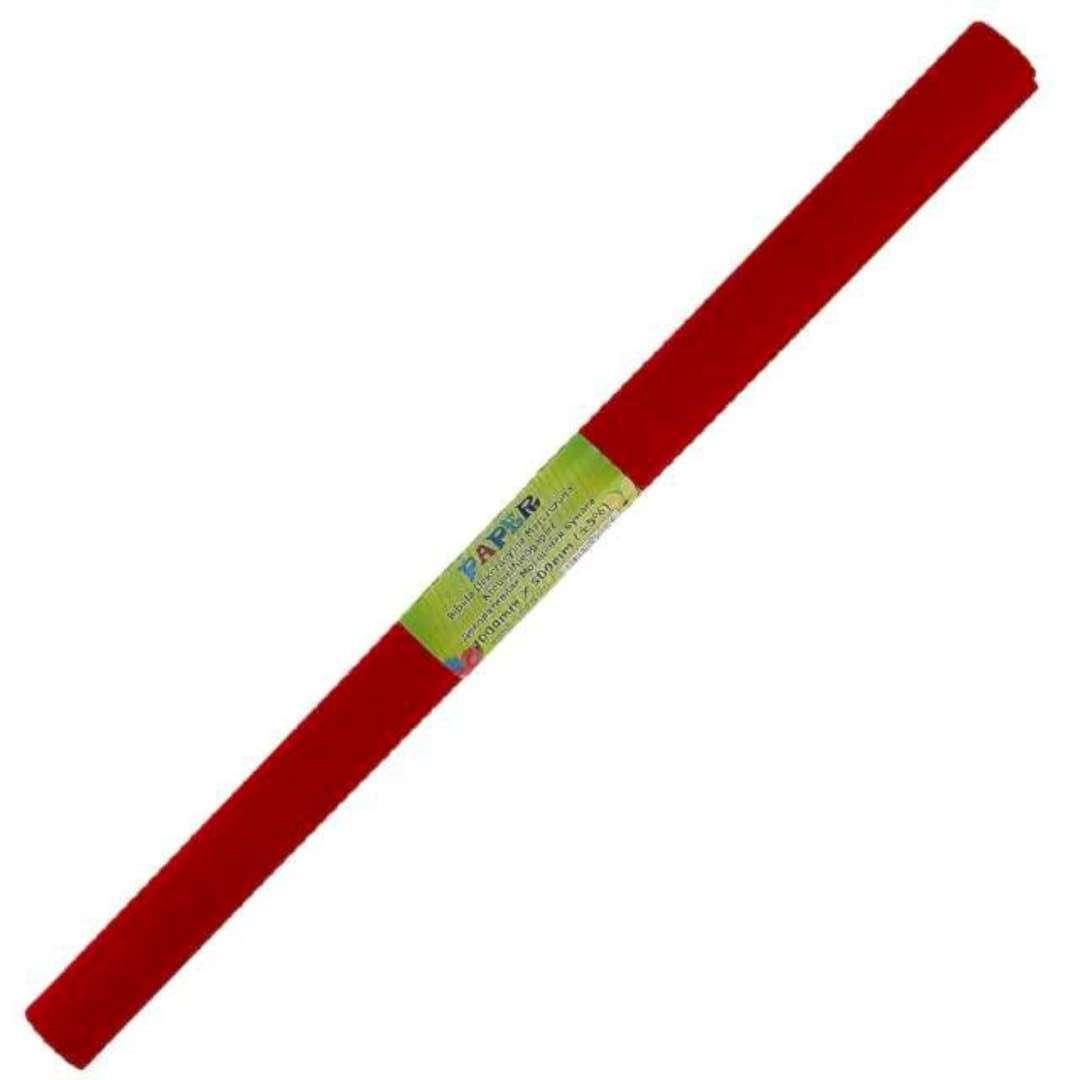 """Bibuła """"Marszczona"""", czerwona ciemna, Titanum, 50 x 200 cm"""