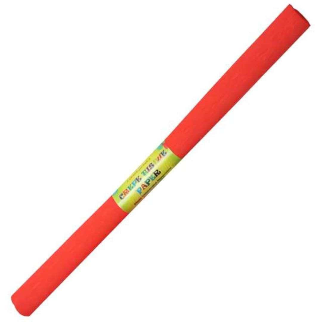 """Bibuła """"Marszczona"""", czerwona jasna, Titanum, 50 x 200 cm"""