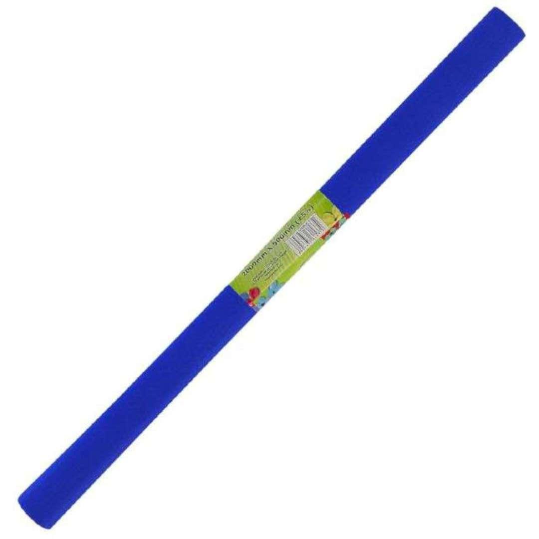 "Bibuła ""Marszczona"", niebieska ciemna, Titanum, 50 x 200 cm"