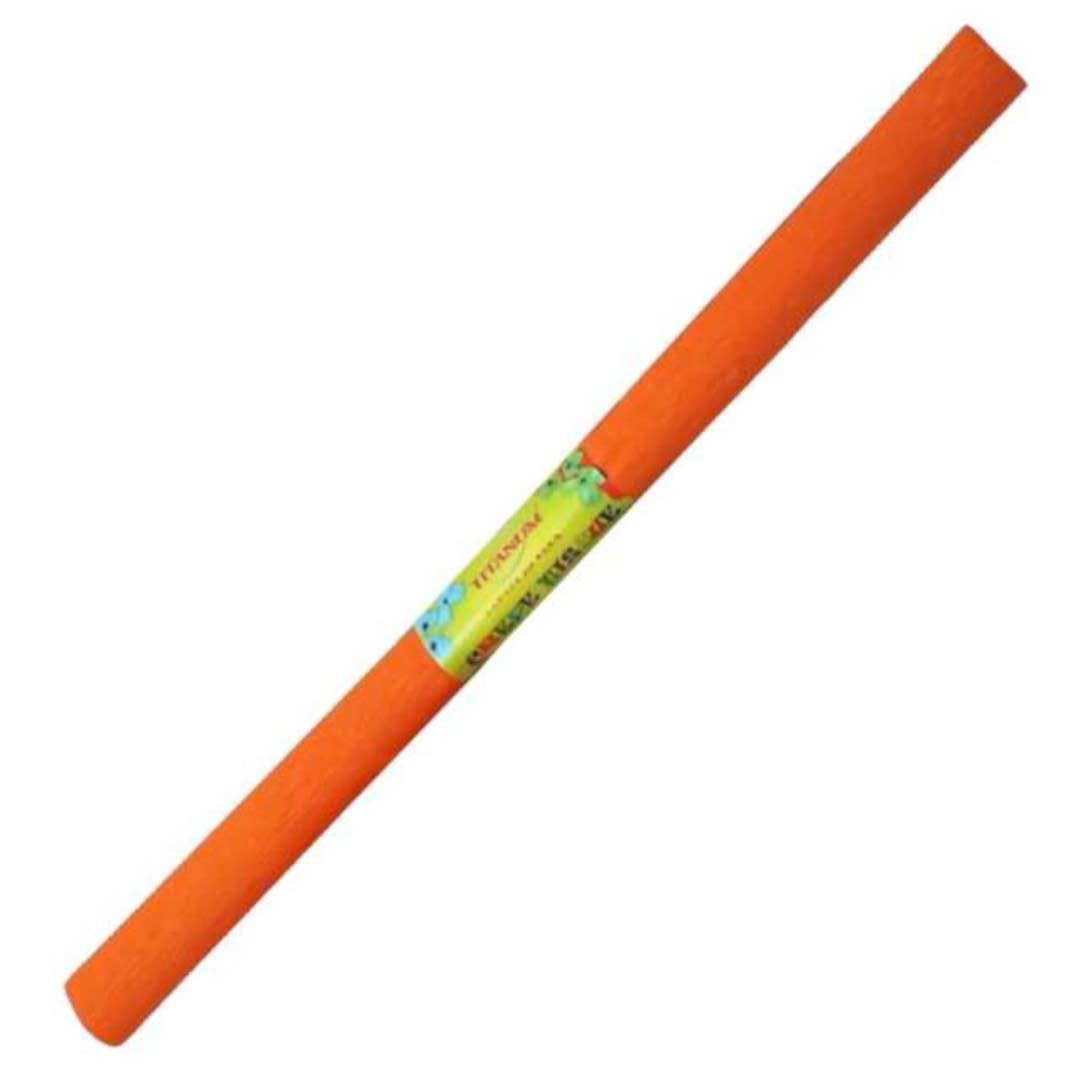 """Bibuła """"Marszczona"""", pomarańczowa ciemna, Titanum, 50 x 200 cm"""