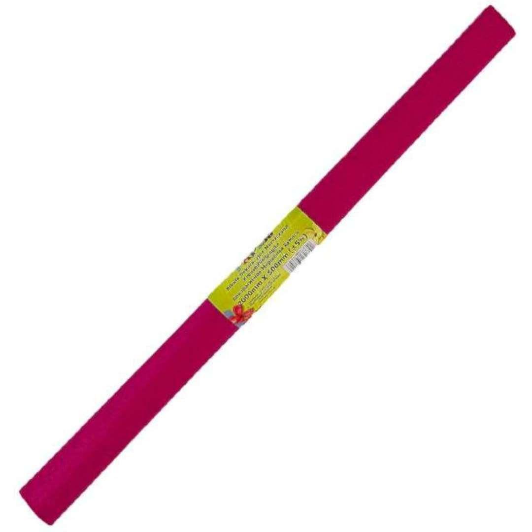 """Bibuła """"Marszczona"""", różowa ciemna, Titanum, 50 x 200 cm"""