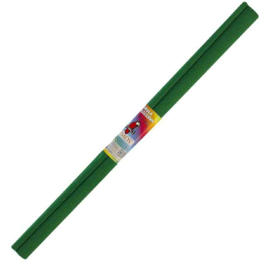 "Bibuła ""Marszczona"", zielona ciemna, Titanum, 50 x 200 cm"