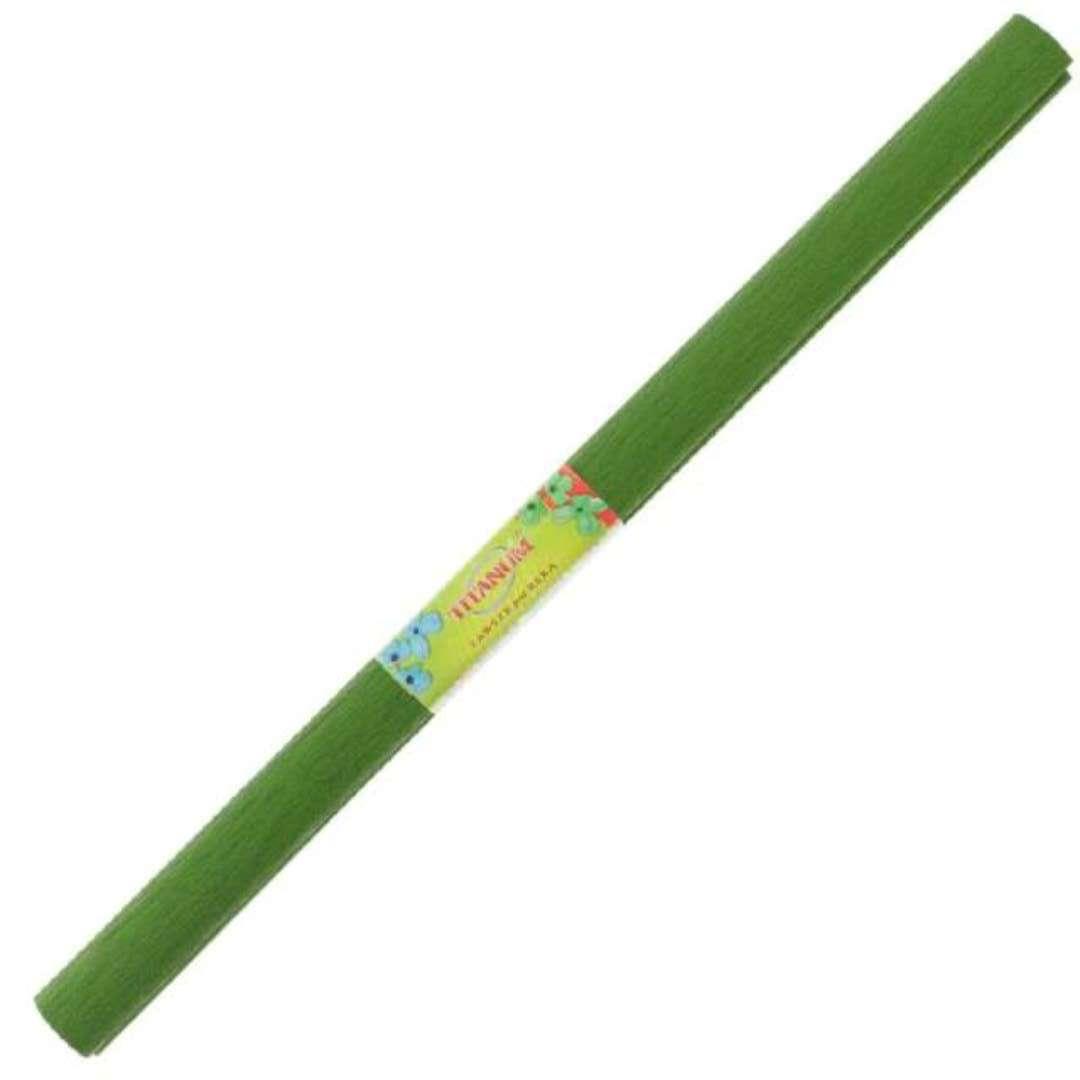 Bibuła Marszczona zielona oliwkowa Titanum 50 x 200 cm