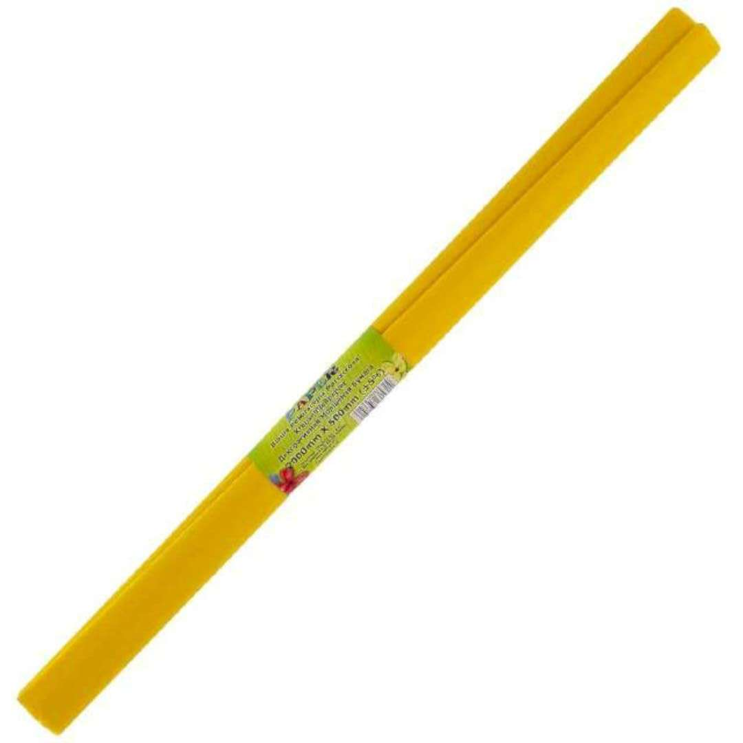 "Bibuła ""Marszczona"", żółta, Titanum, 50 x 200 cm"