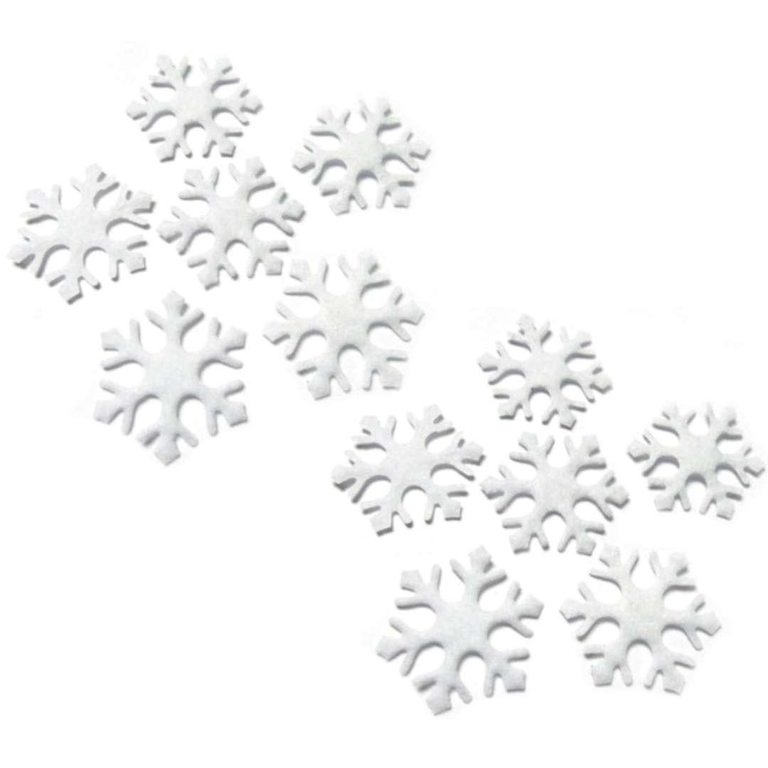"""Dekoracja """"Zimowe śnieżynki"""", Arpex, 12 szt"""