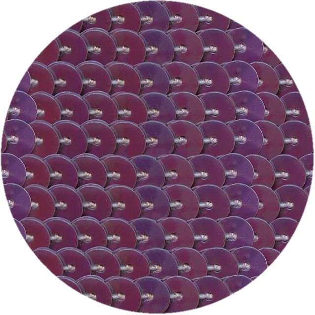 """Cekiny """"Na sznurku"""", fioletowe, 6 mm, Titanum, 2 m"""