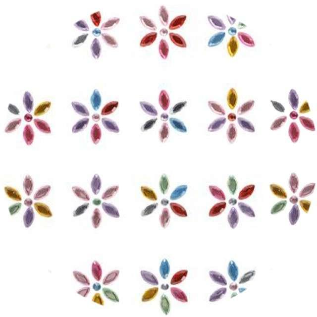 """Dżety samoprzylepne """"Kwiatki Kryształki"""", mix, 19mm, Titanum"""