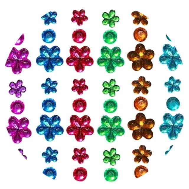 "Dżety samoprzylepne ""Kryształki"", kolory mix, 52 szt, Titanum"