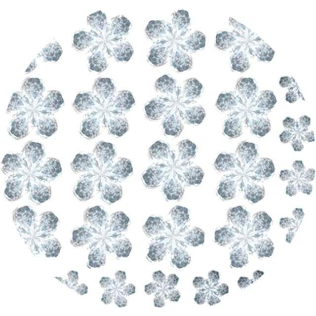 Dżety samoprzylepne Kwiatki Kryształki srebrne 52 szt Titanum