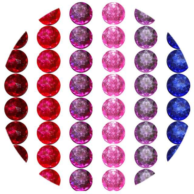 "Dżety samoprzylepne ""Kryształki"", kolory mix, 78 szt, Titanum"