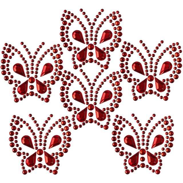 """Dżety samoprzylepne """"Motyle"""", czerwone, Titanum"""
