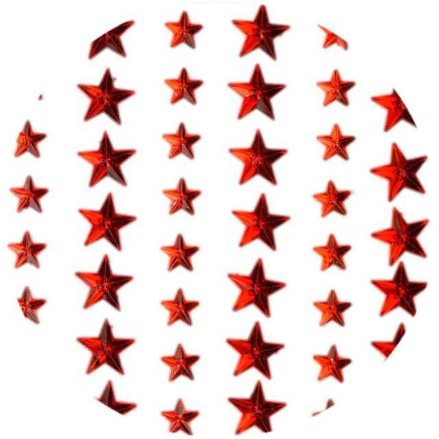 """Dżety samoprzylepne """"Kryształki gwiazdki"""", czerwone, 57 szt, Titanum"""