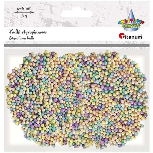 Styropian Kuleczki 4-6 mm mix Titanum 8 g