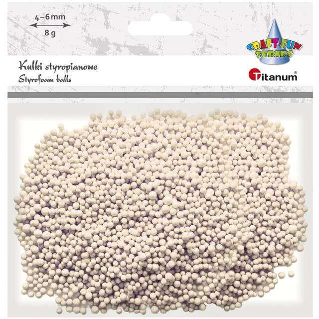 Styropian Kuleczki 4-6 mm ecru Titanum 8 g