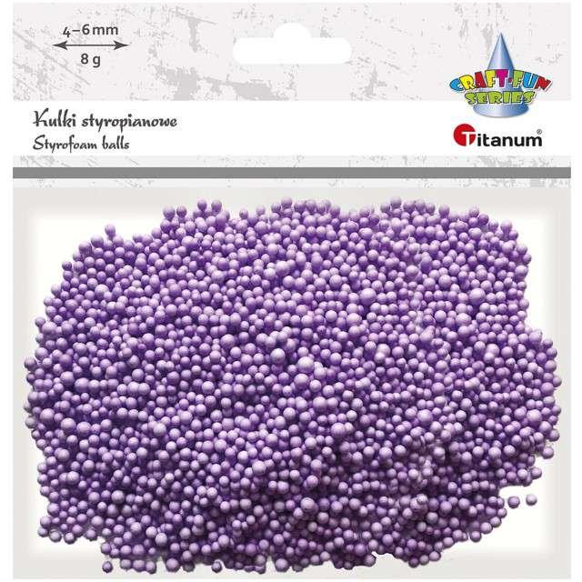 Styropian Kuleczki 4-6 mm fioletowe Titanum 8 g