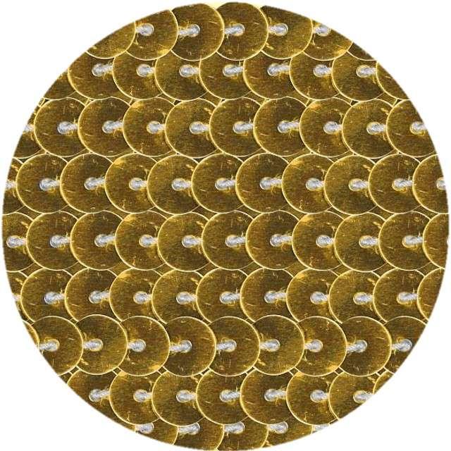 """Cekiny """"Na sznurku"""", złote, 6 mm, Titanum, 2 m"""