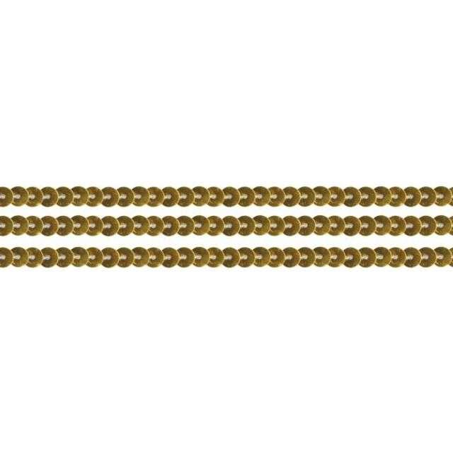 Cekiny Na sznurku złote 6 mm Titanum 2 m