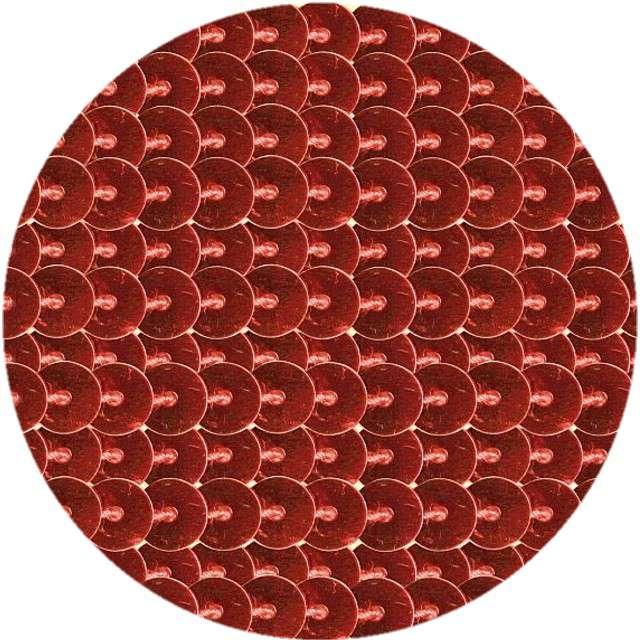 "Cekiny ""Na sznurku"", czerwone, 6 mm, Titanum, 2 m"